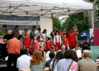Eine italienische Gesangseinlage auf dem Europafest.